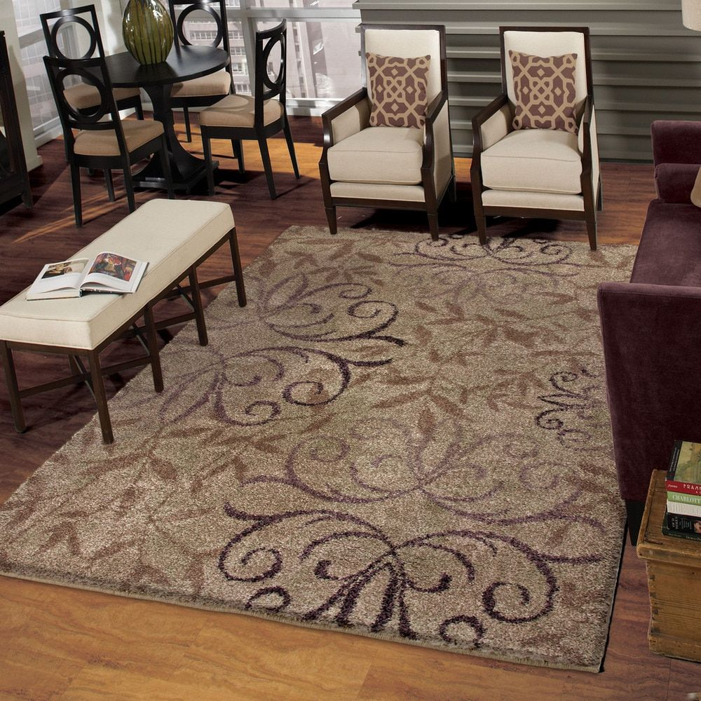 Carolina Weavers Grand Comfort Collection Toro Beige Area Rug 6 7 X