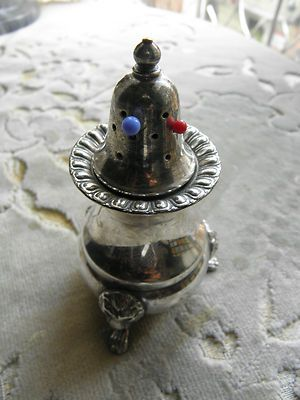 Vintage Victorian Silver Plated Pin Cushion w/Holes
