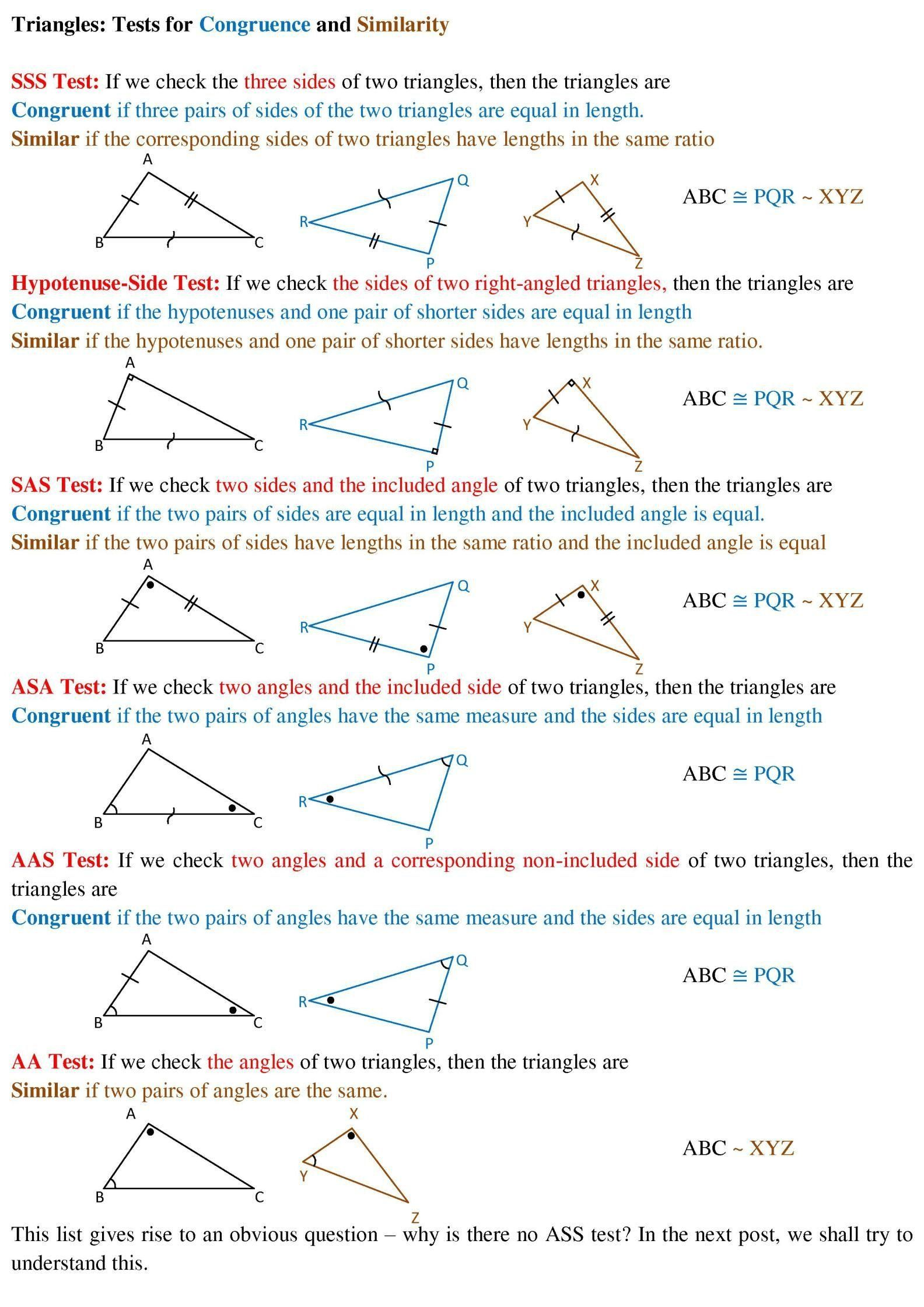 Proving Triangles Congruent Worksheet Triangles