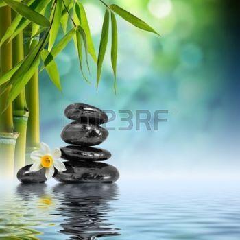 d tente zen pierres et de bambou sur l 39 eau fleur bleue pinterest zen bambou et tableau zen. Black Bedroom Furniture Sets. Home Design Ideas