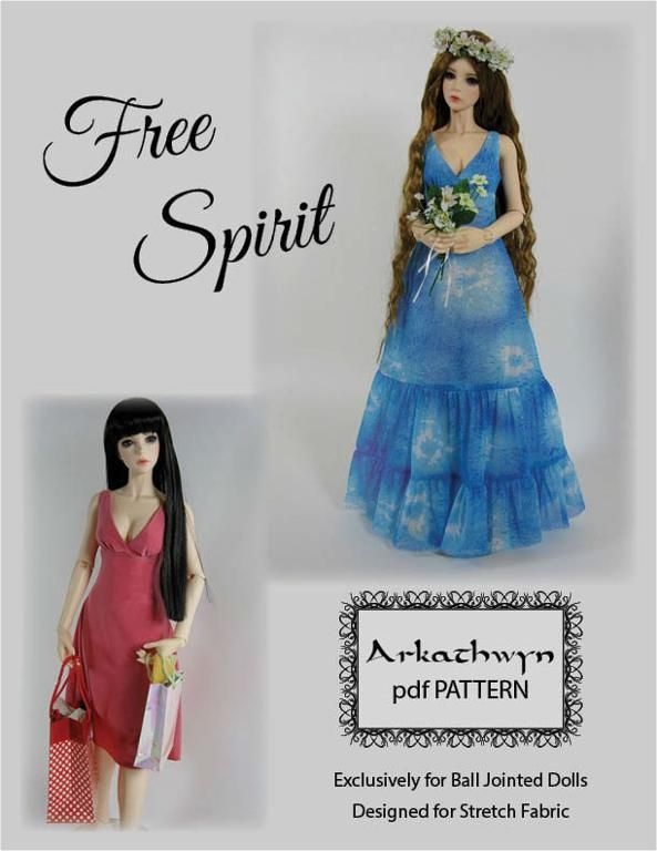 BJD Dress Pattern - Free Spirit