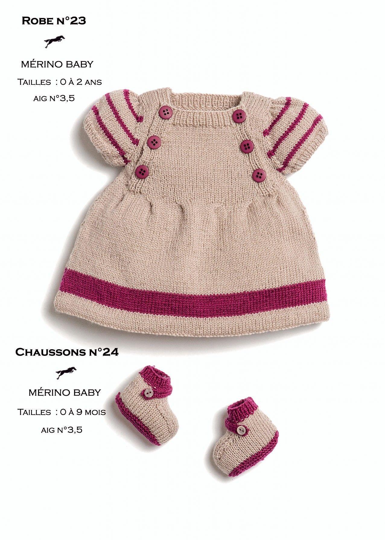 Photo of Modèle robe layette CB25-23 – Patron tricot gratuit