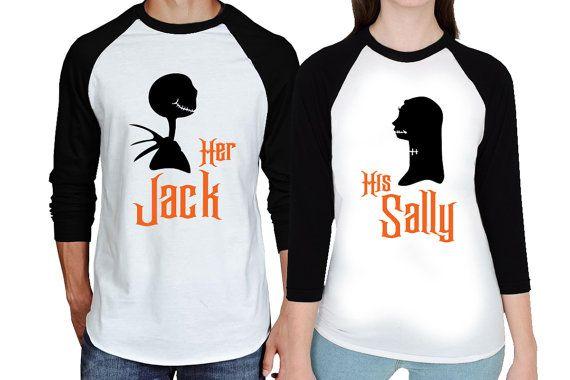 0b396dd20e Nightmare Before Christmas Couples Raglan Shirts - Together Since Matching  Baseball Shirts - Her Jack His Sally Together Since Custom Shirts