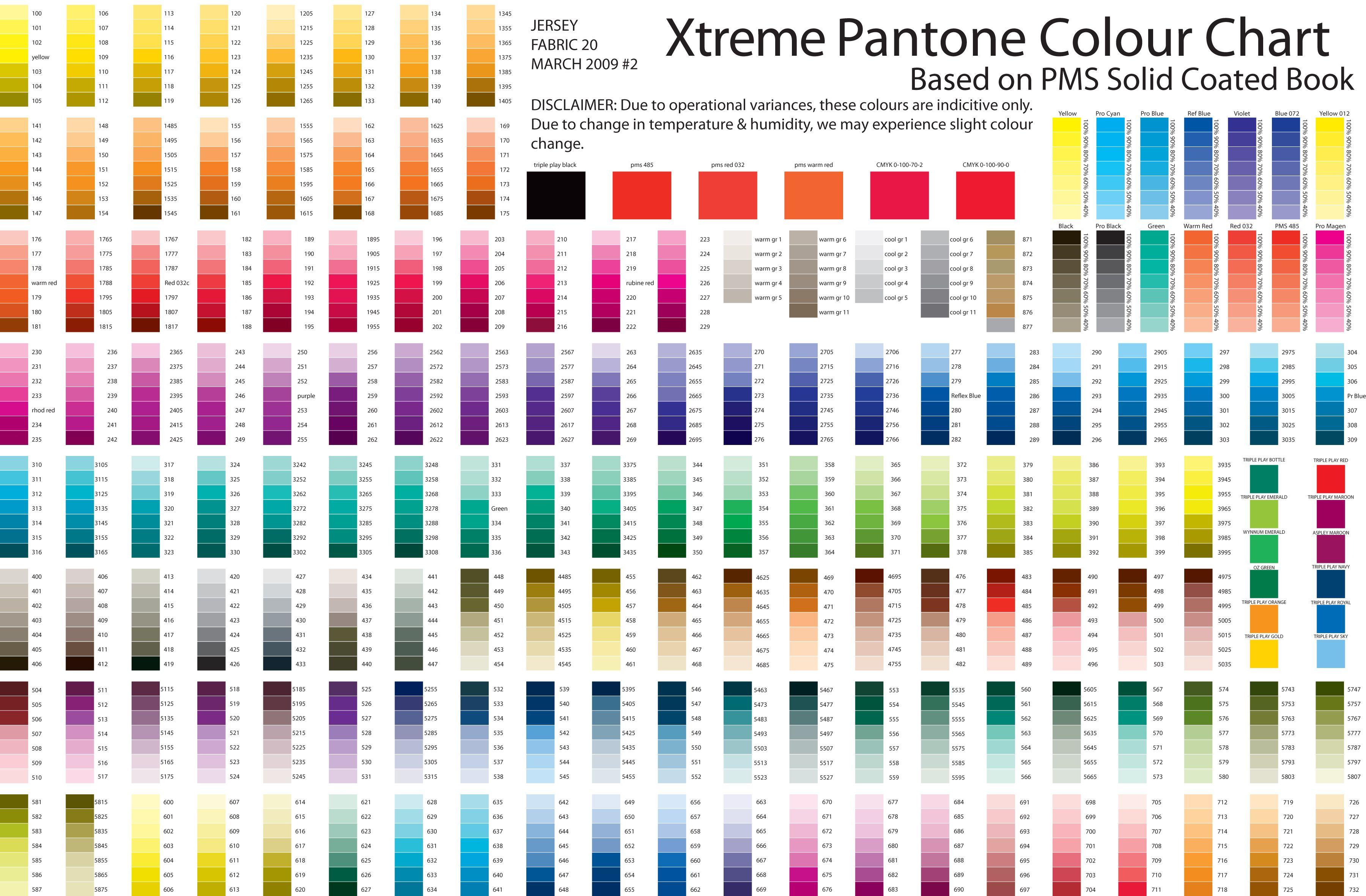Pantone Color Chart Colour Season Colors Swatches Mixing