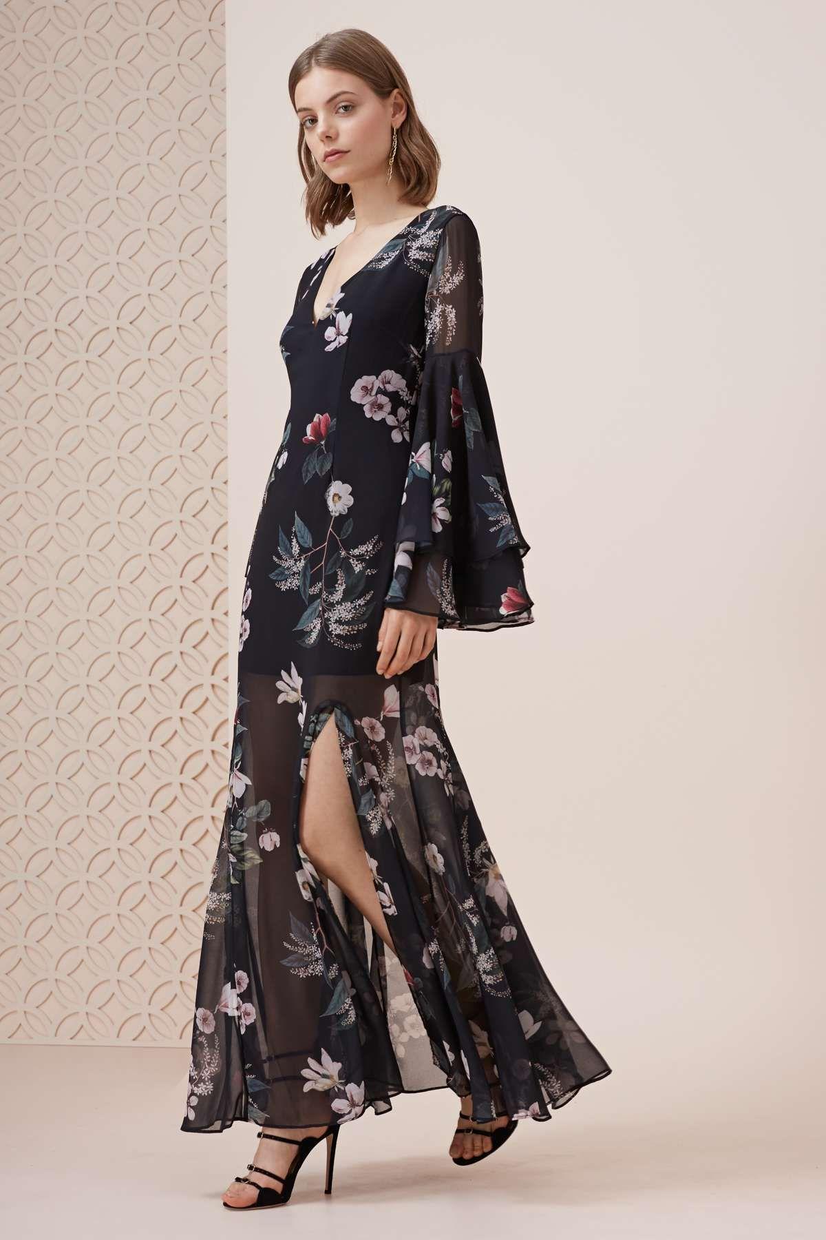 Cosmic girl maxi dress dark garden floral collections pinterest