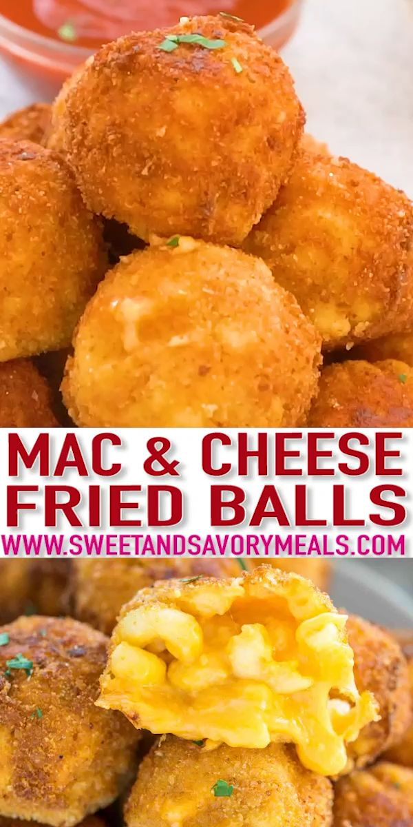 Mac and Cheese Balls video  Sweet and Savory Meals Mac and Cheese Balls are the PERFECT comfort food that is crisp on the outside and creamy on the inside They are the BE...
