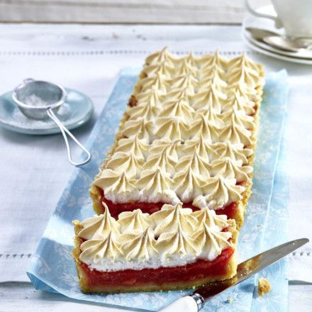 Photo of Rhubarb tart with meringue recipe DELICIOUS