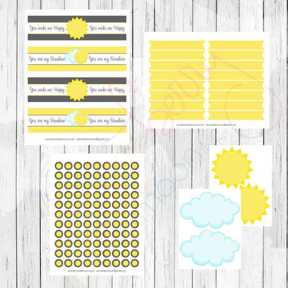 You Are My Sunshine Printable Party Package by @LemonberryMoon Baby Shower or Birthday