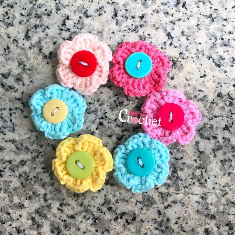 Quick and Easy 6 Petal Flower Free Crochet Pattern | Crochet flowers ...