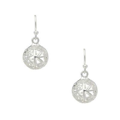 Van Peterson 925 Designer Silver Filigree Ball Earrings At