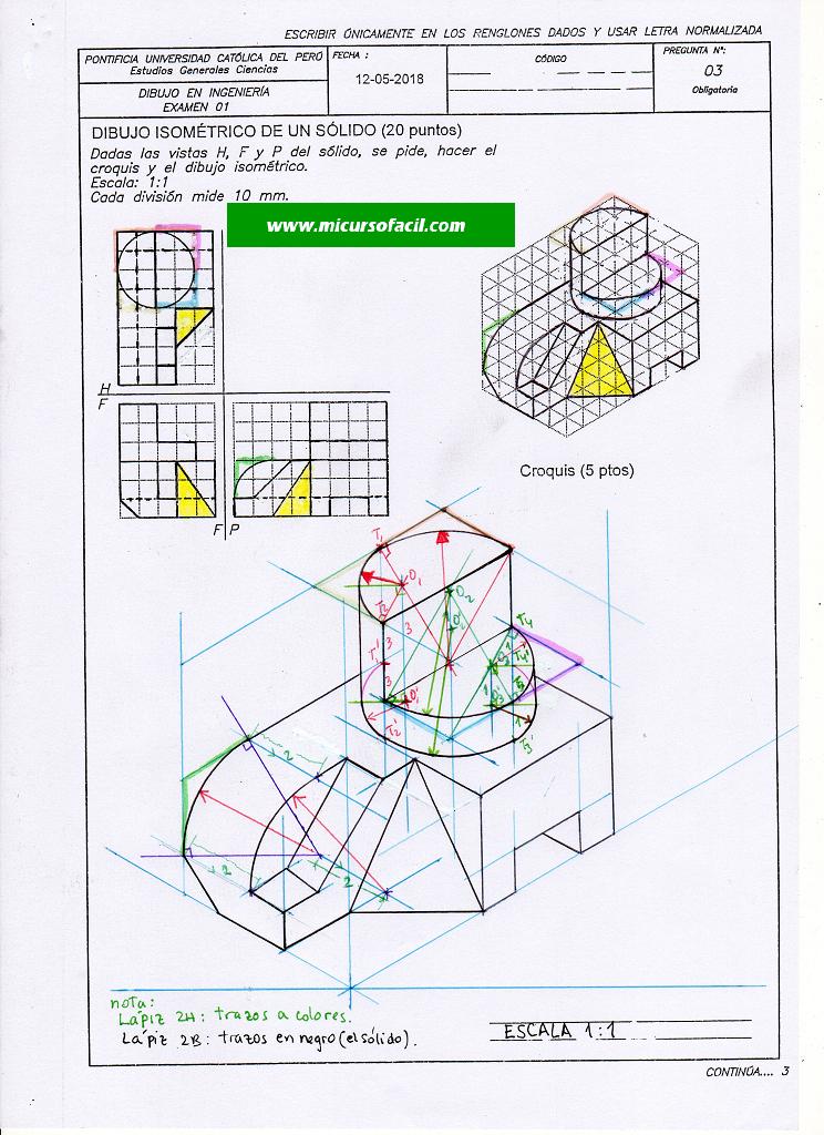 Dibproyisomex1 18i 302 Si1 Geometria Descriptiva Geometria Formularios