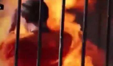 احراق معاذ الكساسبة بالصور داعش يحرق معاذ صور حرق الطيار الاردني