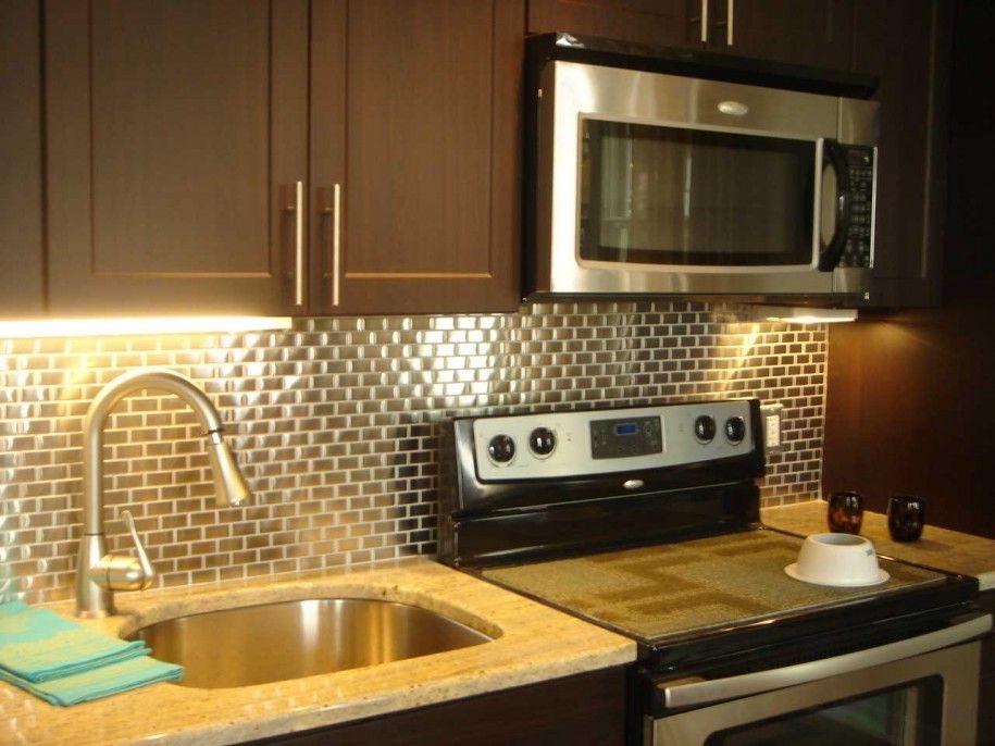 stainless steel backsplash | Cenefas cocina | Pinterest | Cenefas ...