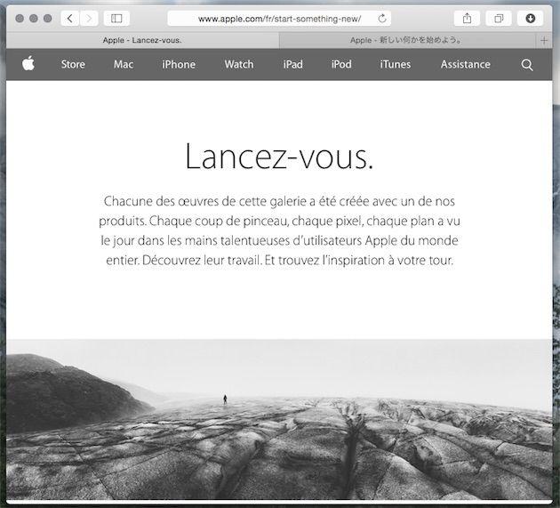 «Lancez-vous», il y a un appareil pour ça, déclare Apple | MacGeneration