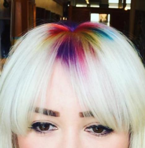 rainbow roots latest hair