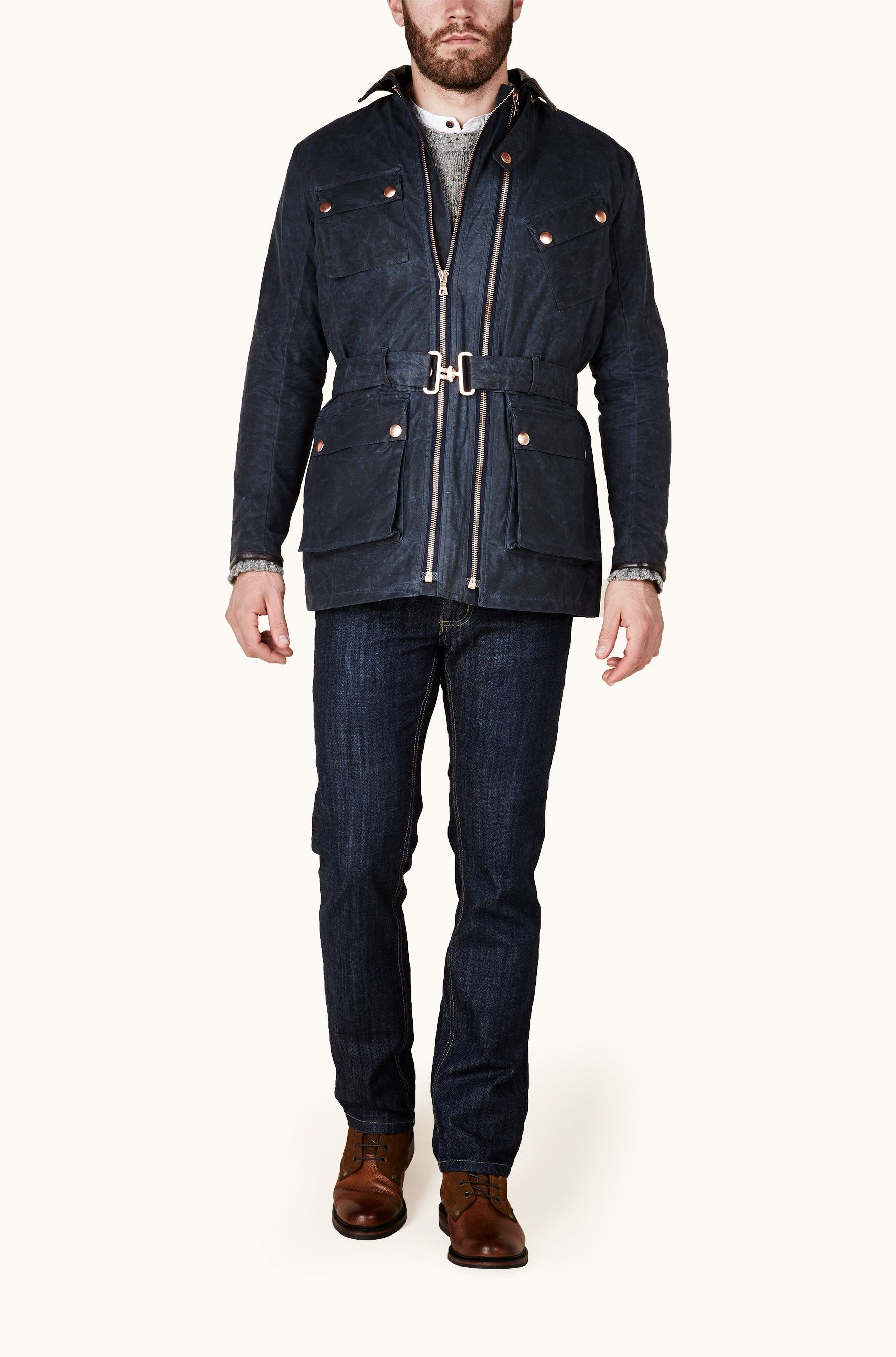 Twin Track Navy Beeswax Track Jackets Clothes Jackets