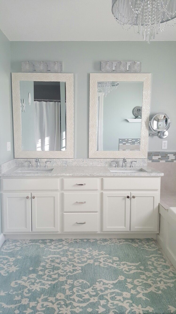 Comfort Gray Sherwin Williams Cambria Montgomery Quartz Countertop Spa Bathroom