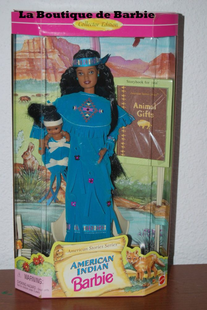 AMERICAN INDIAN BARBIE DOLL #2, AMERICAN STORIES COLLECTION, 17313, 1997, NRFB  | eBay #indianbeddoll