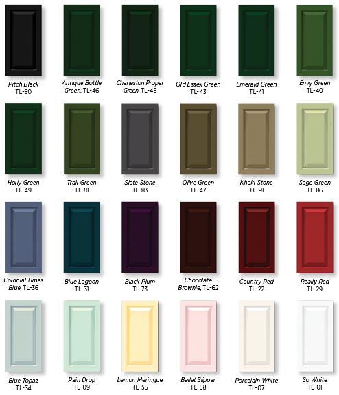 Shutter Color Chart Selecting Shutter Color Timberlane Shutter