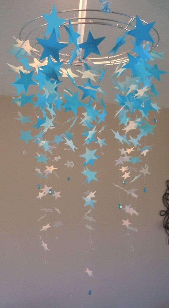 Wish Upon a Star Chandelier Mobile by BellesNurseryDecor on Etsy