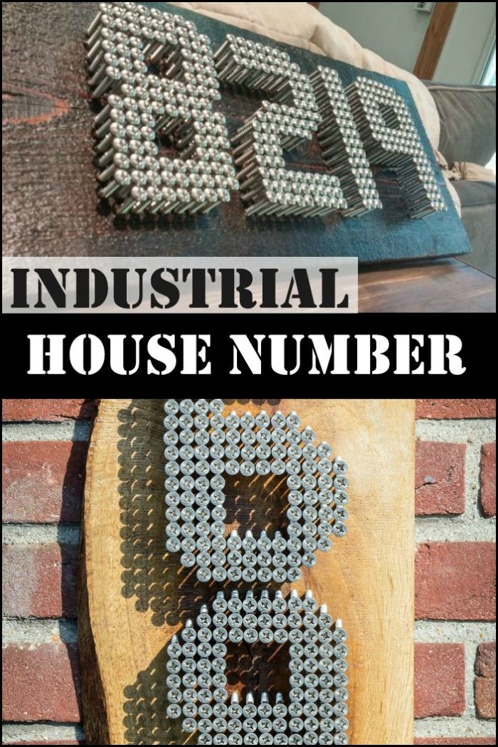 learn how to make a secure industrial house number sign home decor pinterest haus und. Black Bedroom Furniture Sets. Home Design Ideas