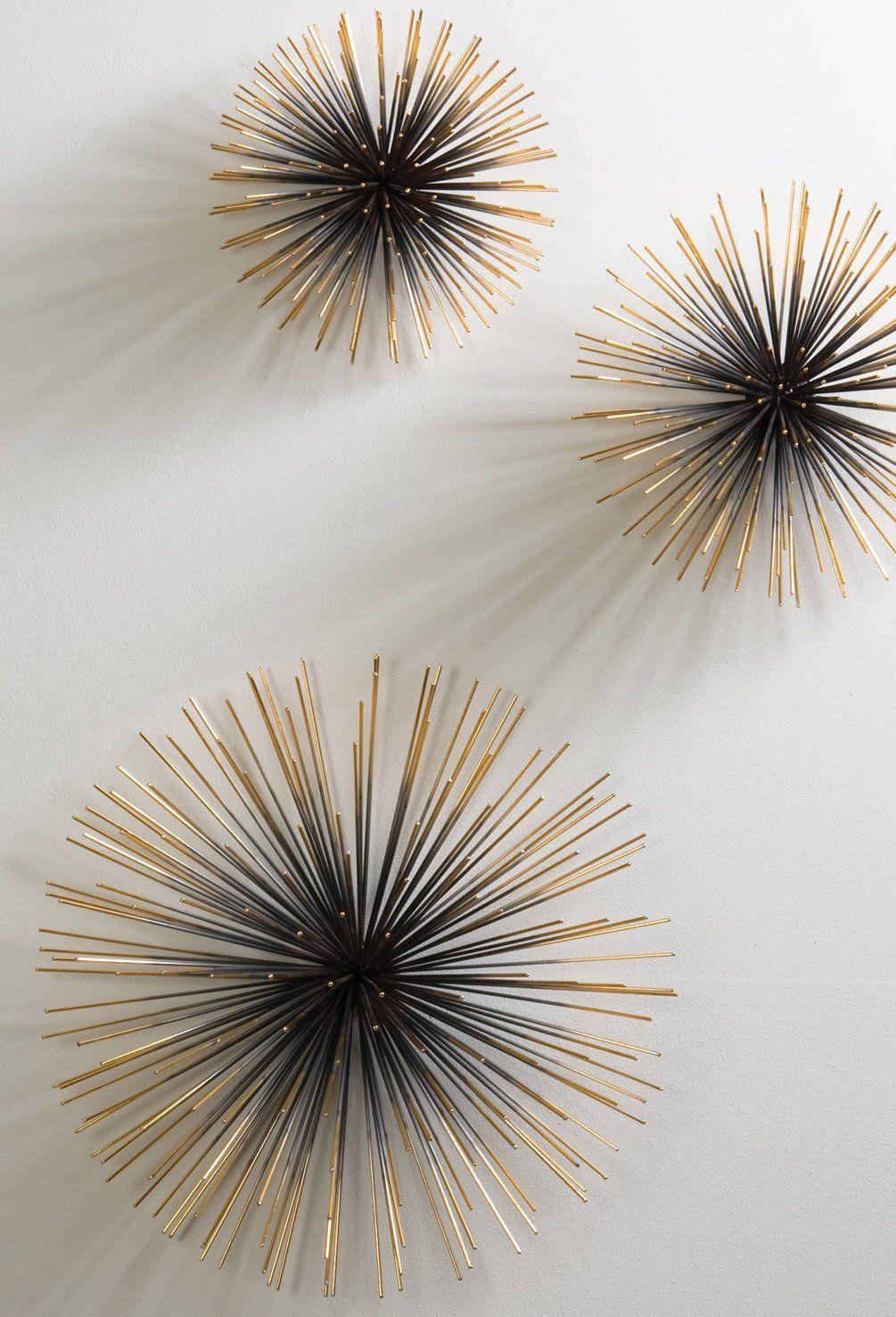 Wanddeko 3d kreative dekoideen wohnzimmer mit 3d wanddeko metall als moderne