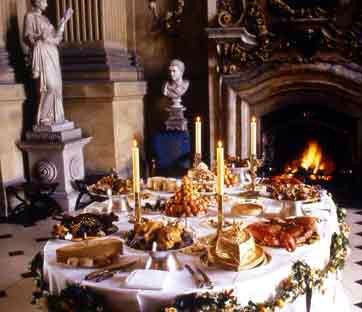 Castle Howard : table set for 1710 dinner