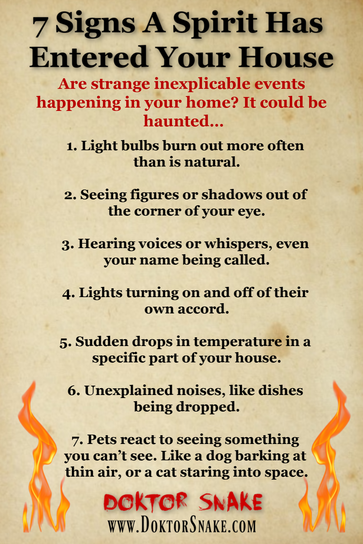 Is your house haunted? 7 signs a spirit has entere
