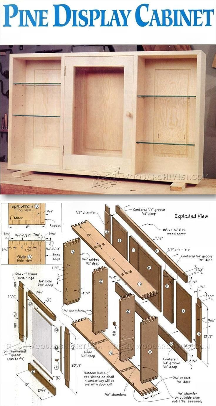 Wall Display Cabinet Plans Furniture Plans And Projects