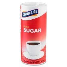 Genuine Joe Pure Cane Sugar Caniste 20 oz - Natural Sweetener - 3/Pack Item Number: GJO56100 www.opsfla.com