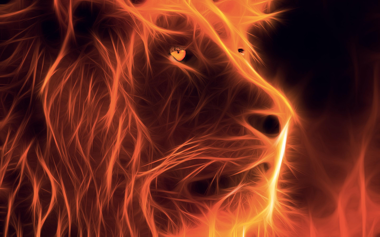 Lion Fractal De Feu Fire Fractal Lion Fire Lion Lion Art Lion