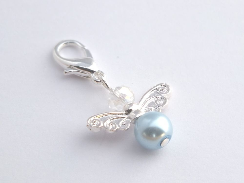 Guardian angel charm something blue gift for bride, trinket, good luck charm !!!