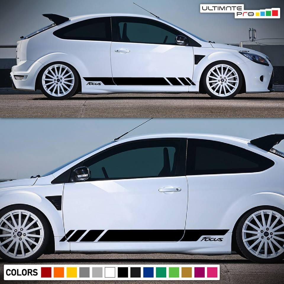 2x Decal Sticker Vinyl Side Racing Stripes Compatible With Ford Focus St Rs Mk2 3 Door 2004 2010 Ford Focus Ford Focus St Car Sticker Ideas [ 960 x 960 Pixel ]