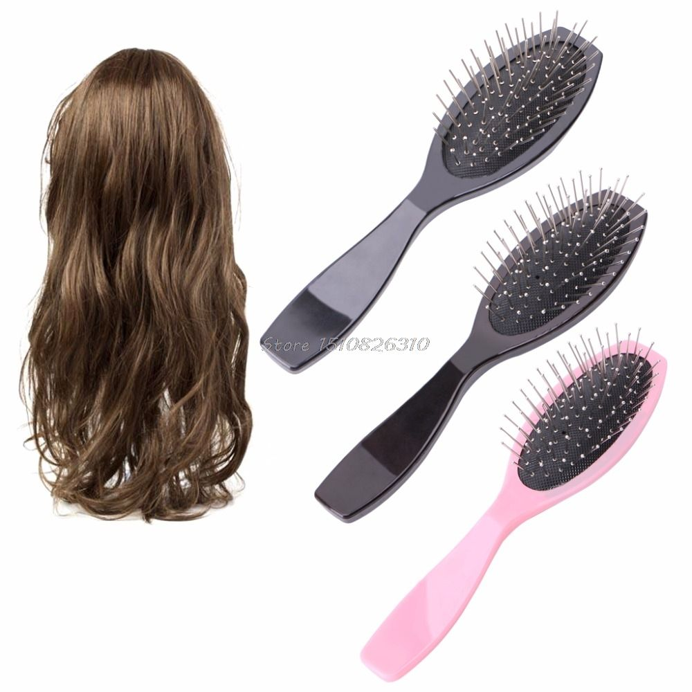 Professional Anti Static Steel Comb Brush For Wig Hair Extensions