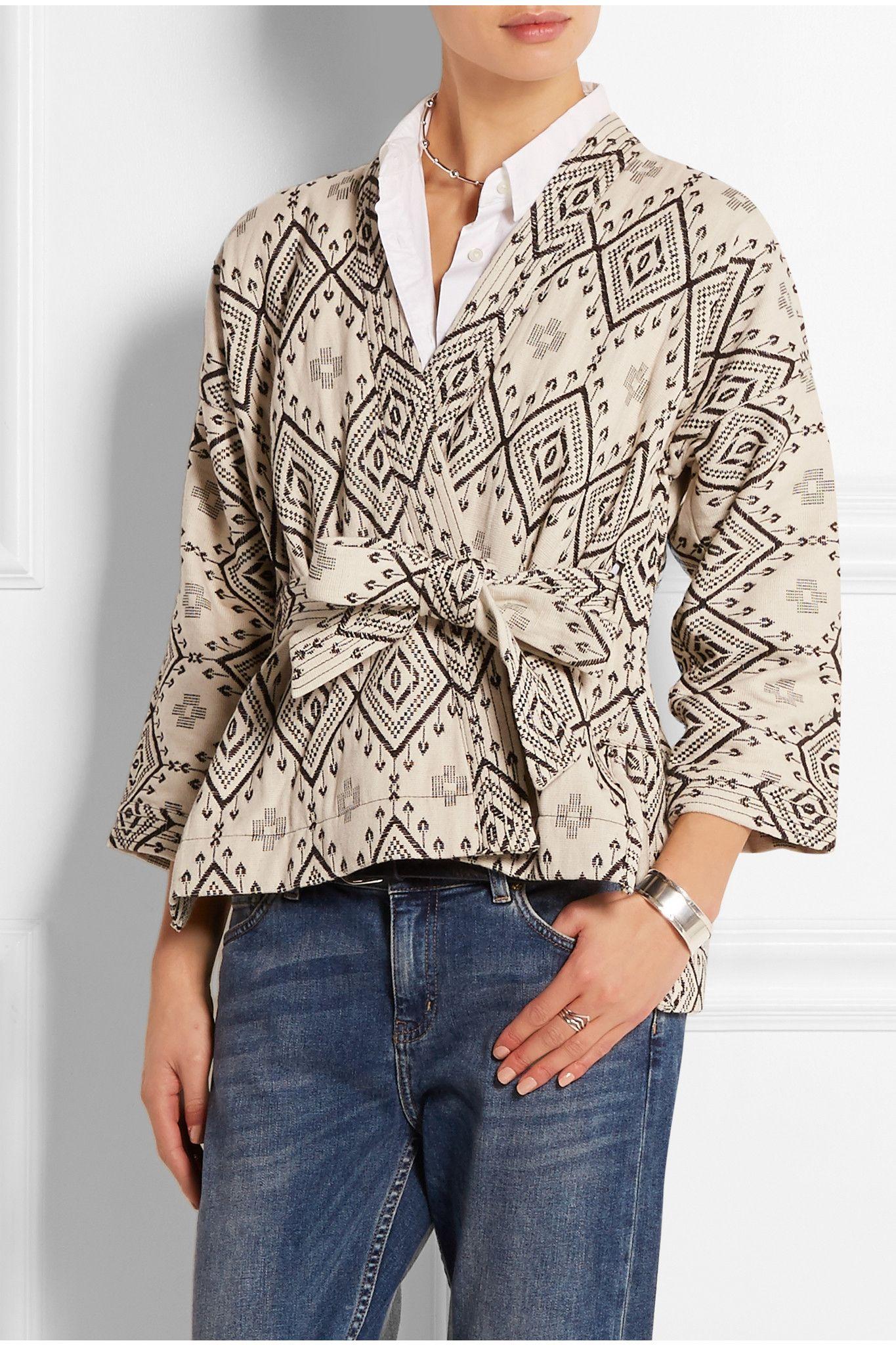 MADEWELL Arrowhead cotton-jacquard jacket $171.87 http://www.net-a-porter.com/products/524823