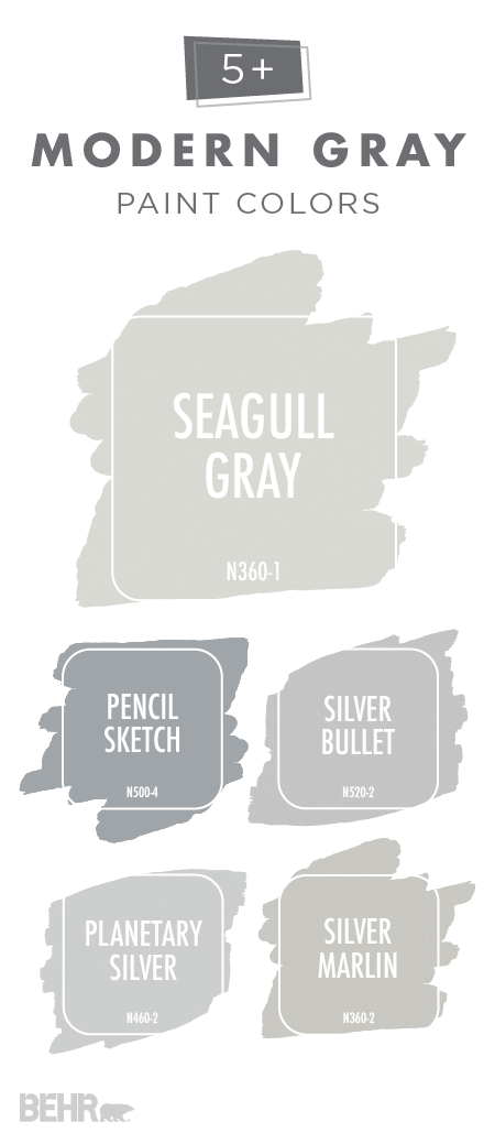 Bring your home into the twenty first century with this for Behr paint silver bullet