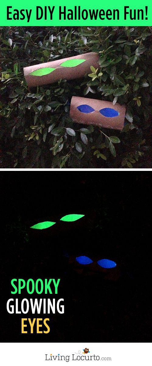 How to Make Glowing Eyes - Easy Halloween Haunted Decor! #halloween - fun and easy halloween decorations