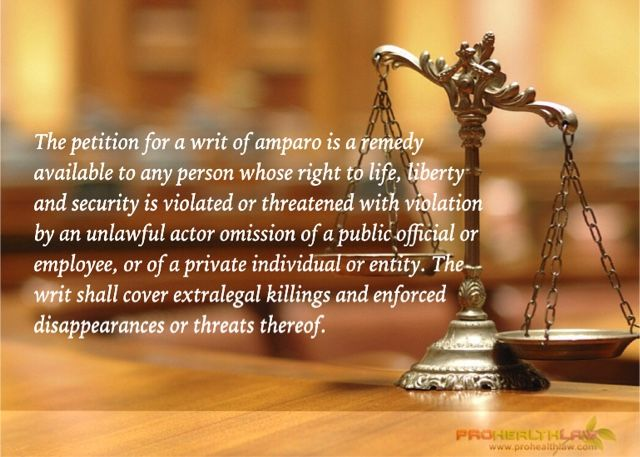 Petition For A Writ Of Amparo Is Not A Proper Remedy To Obtain - petition sign up sheet template