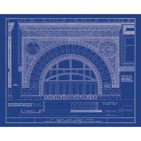 Louis sullivan designblueprint chicago stock exchange decortypes architecture louis sullivan designblueprint malvernweather Gallery