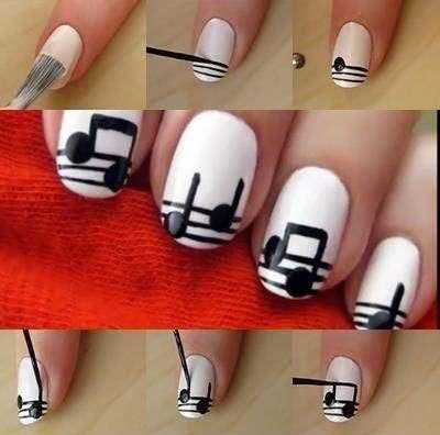 Music Nail Art Step By Step Httpsetsycashop