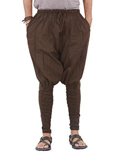 Cotton sporty casual pants Brown loose comfortable yoga hippie boho men pants