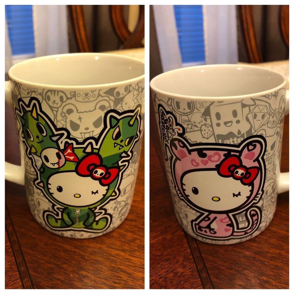 One Tokidoki Sanrio Hello Kitty mug cup, displayed only    eBay