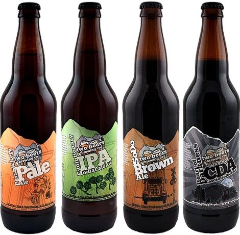 Love the mountain die cut! Beer Labels Pinterest - beer label
