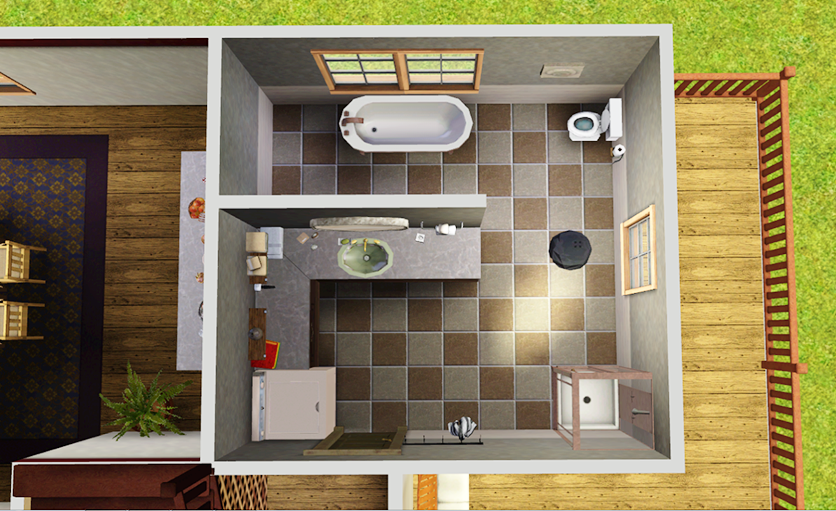 The Sims 3 Sunset Valley house Bathroom   ~ My The Sims