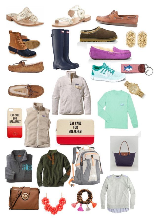 """""""Current wishlist"""" by brandissa ❤ liked on Polyvore featuring L.L.Bean, Hunter, UGG Australia, Jack Rogers, Patagonia, Sperry, Kate Spade, NIKE, The North Face and J.Crew"""