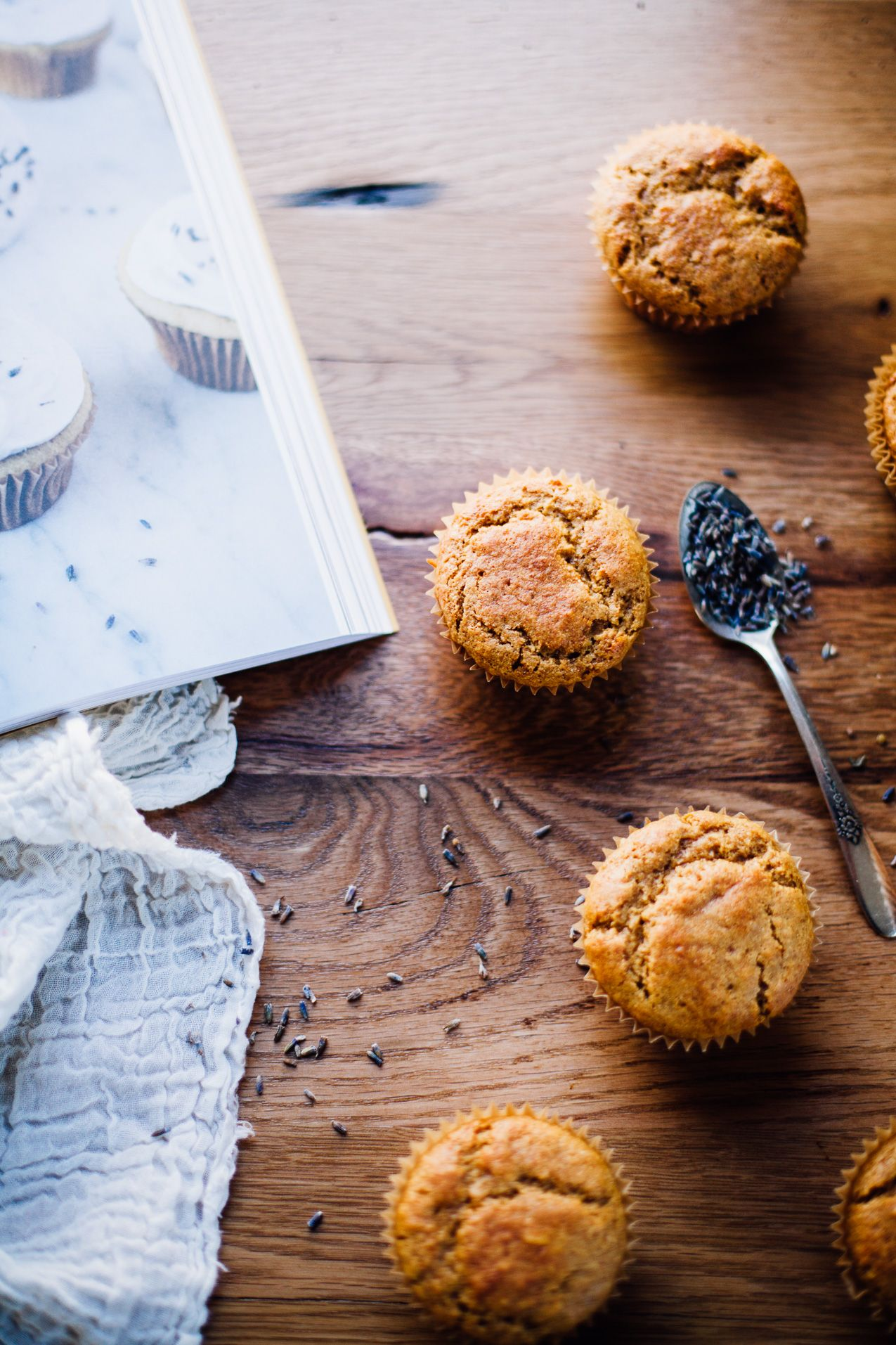 Gluten Free, Dairy Free Vanilla Bean Lavender Cupcakes