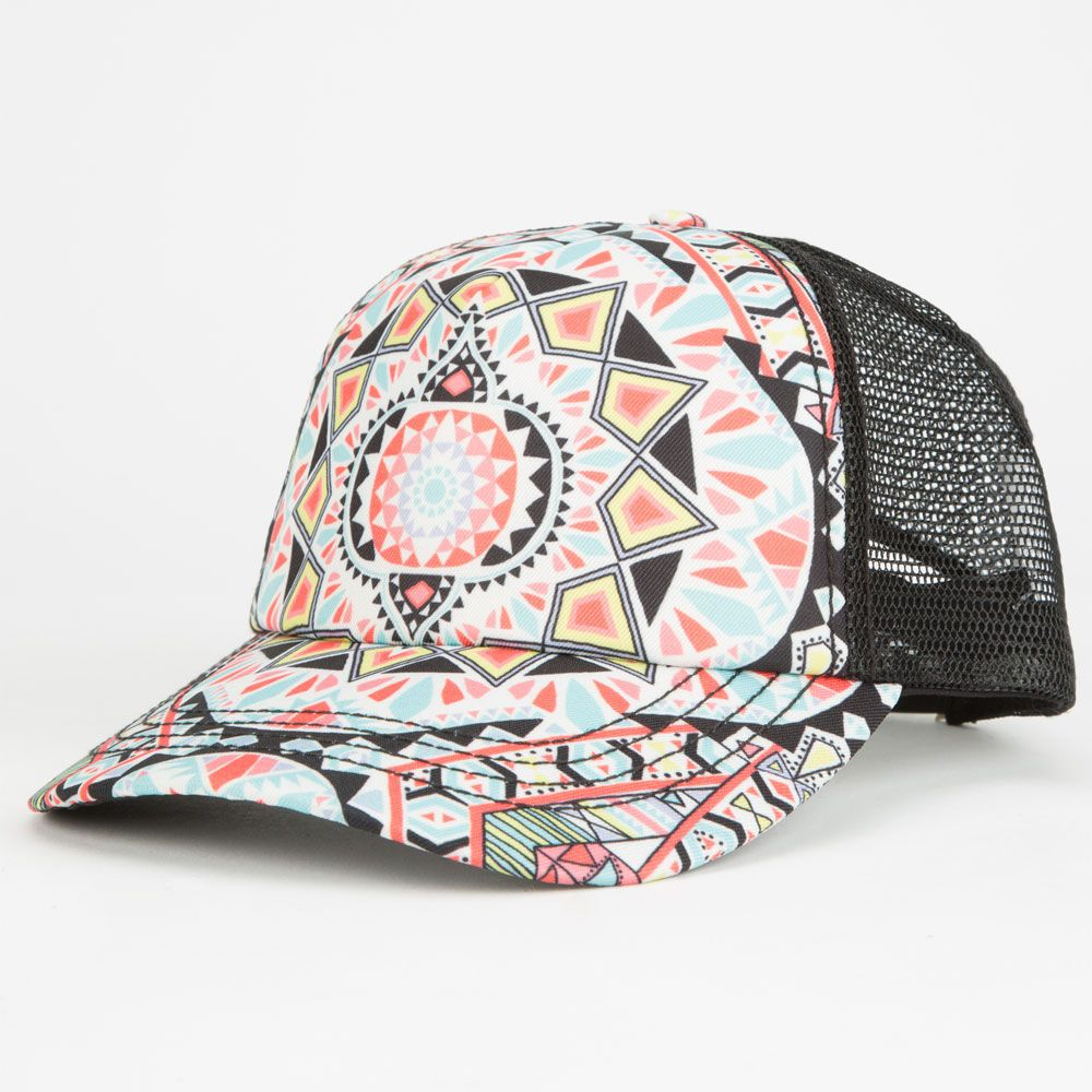 billabong tiles n tides womens trucker hat 251290957