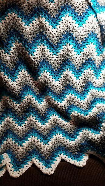 V-Stitch Ripple Afghan - Free Crochet Pattern | Pinterest ...
