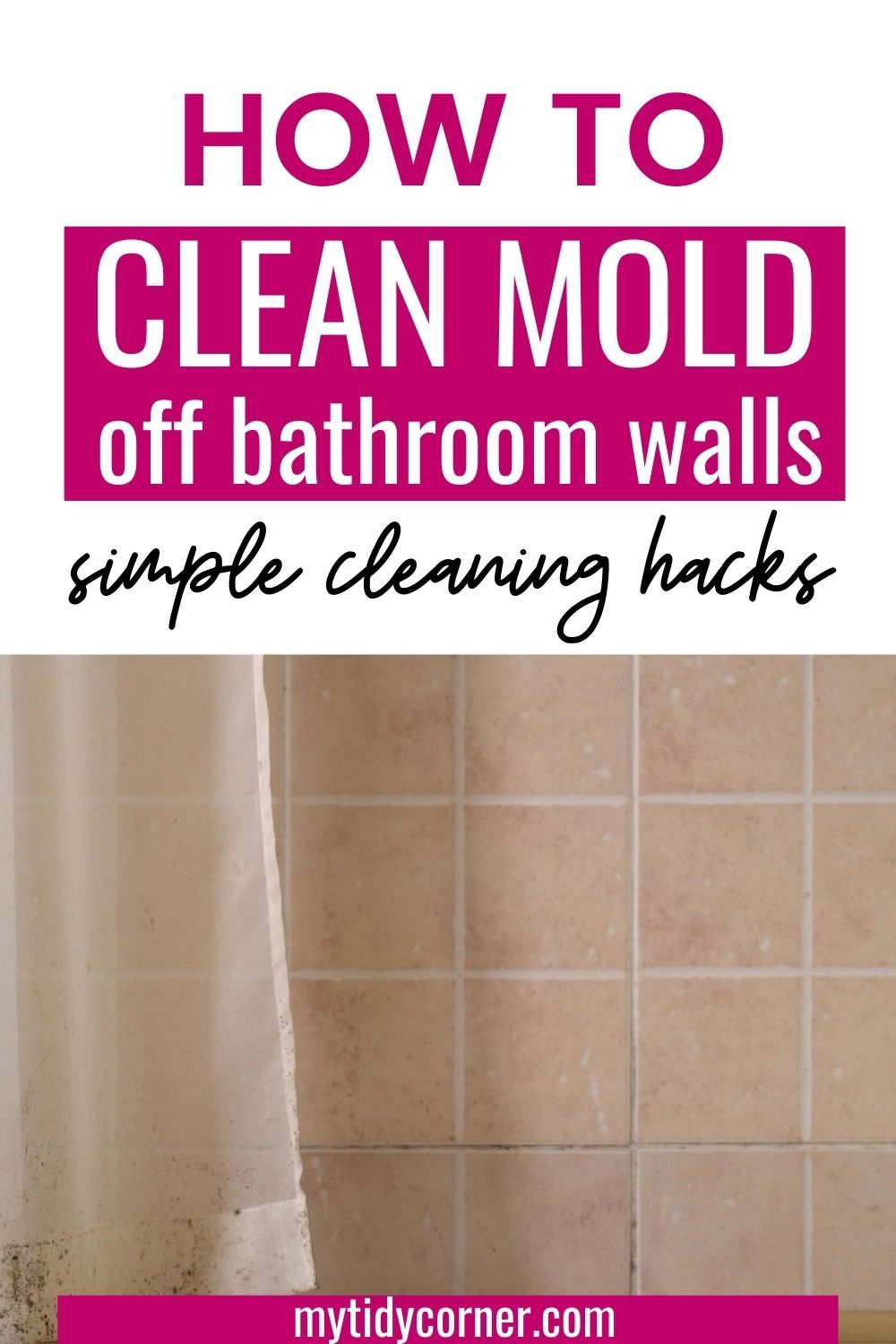 How to Clean Mold from Walls in Bathroom Simple Cleaning