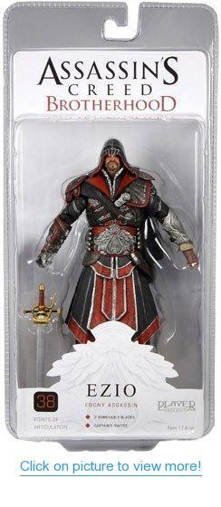 "EZIO AUDITORE EAGLE VISION Assassins Creed Brotherhood NECA 7/"" SDCC FIGURE"